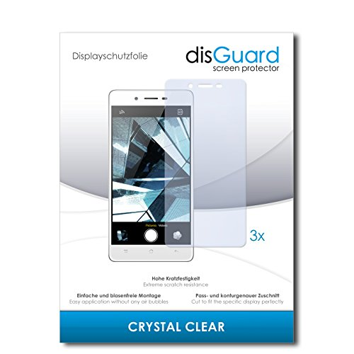 disGuard® Bildschirmschutzfolie [Crystal Clear] kompatibel mit Oppo Mirror 5 [3 Stück] Kristallklar, Transparent, Unsichtbar, Extrem Kratzfest, Anti-Fingerabdruck - Panzerglas Folie, Schutzfolie