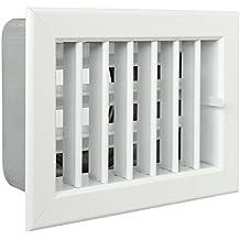 La ventilación gcsib1813100-y Rejilla integrado para chimeneas, aluminio lacado blanco, ...