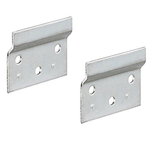 Gedotec Trägerplatte Metall Aufhängeschiene zum Schrauben für Schrankaufhänger | Länge 60 mm | Wandschiene für Schrank-Halterung | Stahl verzinkt | 2 Stück - Wand-Befestigung für Hänge-Schränke -