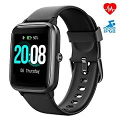 Idea Regalo - LIFEBEE Smartwatch Orologio Fitness Tracker Uomo Donna, Bluetooth Smart Watch Cardiofrequenzimetro da Polso Schermo Colori Impermeabile IP68 Orologio Sportivo Calorie Activity Tracker per Android iOS