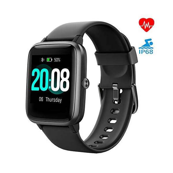 LIFEBEE Smartwatch, Reloj Inteligente Impermeable IP68 para Hombre Mujer niños, Pulsera de Actividad Inteligente con… 1