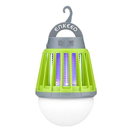 Long-t lanterna da campeggio antizanzare, insetticida elettronico portatile, 3 in 1 led luce notturna, luce uv, zanzara killer, gancio retrattile e paralume rimovibile