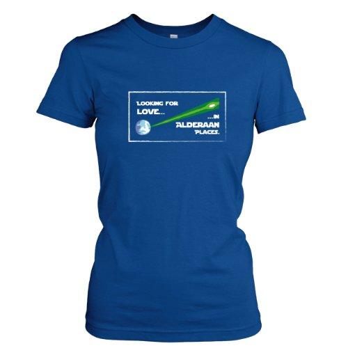 TEXLAB - Alderaan Classic Looking for Love in Alderaan Places - Damen T-Shirt Marine