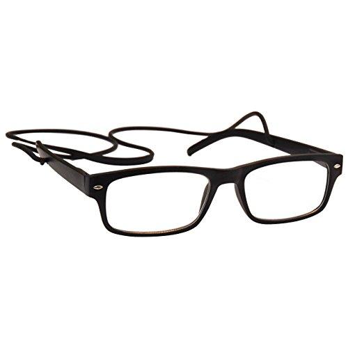 la-compania-gafas-de-lectura-negro-mate-goma-secuencia-del-cuello-estilo-wayfarer-hombres-mujeres-in