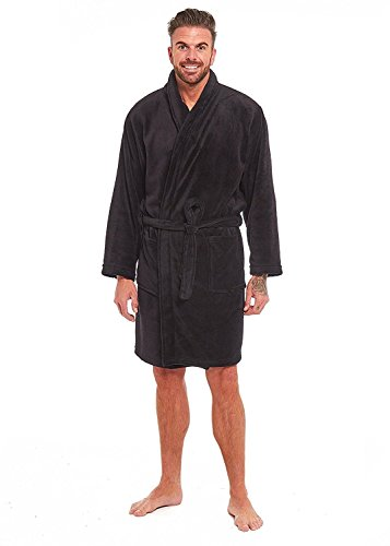 Style It Up Mens Luxury Super Soft Fleece Dressing Gown Bath Robe Hooded Thick Warm Snuggle Test