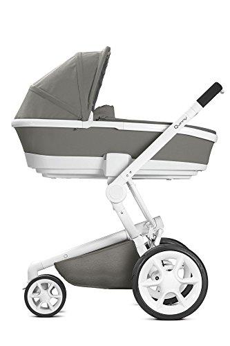 Quinny Moodd Kinderwagen, mit automatischer Aufklappfunktion, Ruheposition in beide Fahrtrichtungen, modernes Design, ab der Geburt bis ca. 3,5 Jahre, grau -