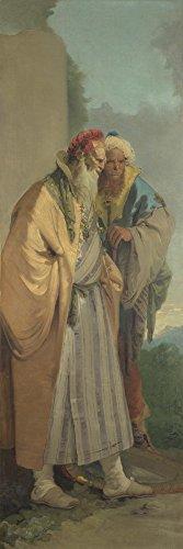 Galerie Kostüm - Das Museum Outlet-Giovanni Battista Tiepolo-Zwei Männer In orientalischem Kostüm, gespannte Leinwand Galerie verpackt. 29,7x 41,9cm