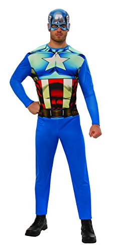 Capitan Amerika–Kostüm, M (Rubie 's Spain -