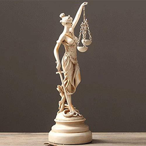 Hioowiu Sandstein Griechenland Statue Themis Dekoration Zubehör Sandstein Griechische Göttin Der Gerechtigkeit Statue Skulptur