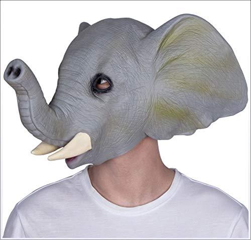 HPSD Máscara Máscara de látex de Elefante Carnaval de Halloween Mascarada Animal Lindo para Adultos Sombrero