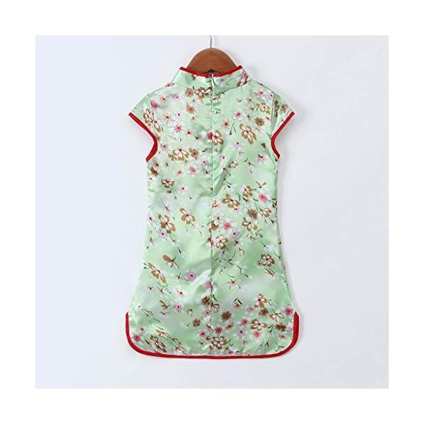 Aini Vestido De Bebé NiñAs Vestido De NiñA Cheongsam Vestido Estampado Estilo Chino para NiñA Vestido Manga Corta Floral… 5