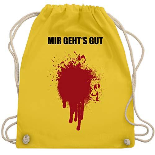 Halloween - Mir geht's gut Blutfleck Kostüm - Unisize - Gelb - WM110 - Turnbeutel & Gym (Gute Halloween Witze)