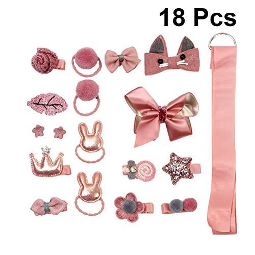 ngen Krawatten Bänder und Bögen für den täglichen Gebrauch Custome spielen Weihnachten Headwear 18Pcs (Pink) ()