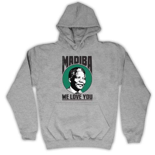 Nelson Mandela We Love You Madiba adulto, felpa Grigio