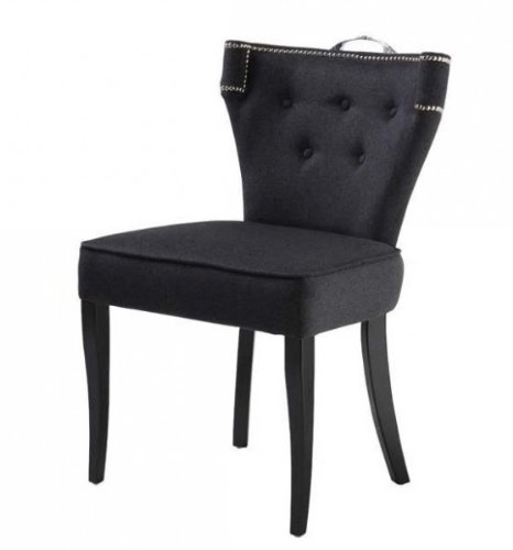 Casa Padrino luxury dining chair Florida Dark Grey / Black