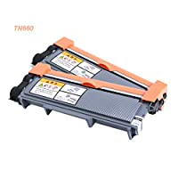 Toner Cartridge (TN660) Black - 2600Pages, Compatible with Printers Such As HL-L2340DW HL-L2320D DCP-L2540DW MFC-L2720 (2PCS)