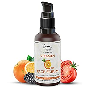 TNW-THE NATURAL WASH Vitamin C Face Serum|Skin Clearing|Skin Repair Face Serum & Face Brightening Vitamin C Serum Reduce hyperpigmentation & Dark Spots with Hyaluronic Acid For Women & Men 30 ml