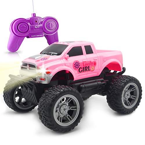ForeverMagicToys Ferngesteuertes Auto - Rosa RC Jeep-Truck für Mädchen Kinder ab 5 Jahren Weihnachten