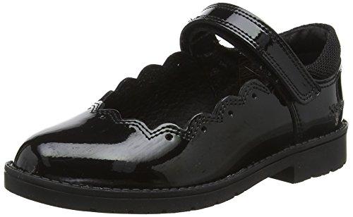Kickers Baby Mädchen Lachly Patent Mary Jane Ballerinas Schwarz (Black 0001) 24 EU Patent Mary Jane Schuhe