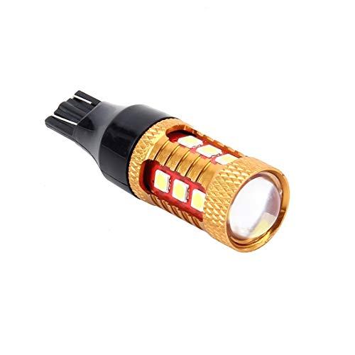 Éclairage de la voiture, Le marqueur de dégagement de dégagement de voiture d'ampoules de 2 PCS T15 7W 600LM 6000K 3030 SMD LED allume la lampe de frein, CC 12V