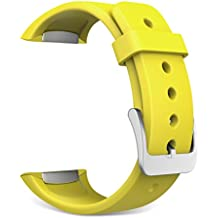 Gear S2 Watch Band, MoKo Soft Silicone Replacement Sport Band for Samsung Galaxy Gear S2 SM-R720 / SM-R730 Smart Watch - Amarillo (Not Fit Gear S2 Classic SM-R732 version)