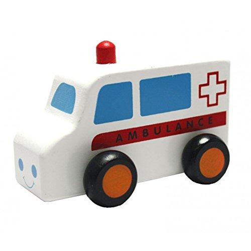 Viga Wooden 6 Piece Mini Vehicles - Childrens Push-Along Play Cars