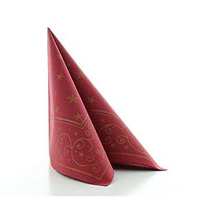 Sovie HORECA Serviette Liam 40cmx40cm / hochwertige stoffähnliche Einweg-Serviette für Weihnachten / 50stck