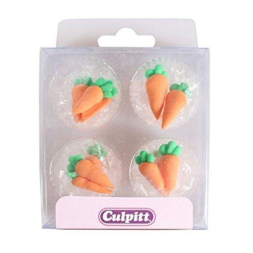 12 decorazioni in zucchero carote dal giardino
