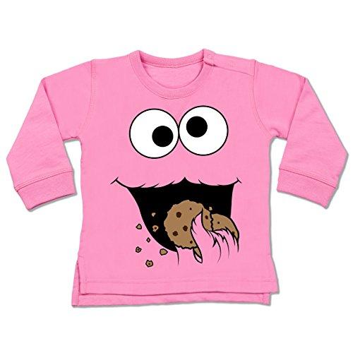 Pink Monster Cookie Kostüm - Shirtracer Karneval und Fasching Baby - Keks-Monster - 6-12 Monate - Pink - BZ31 - Baby Pullover