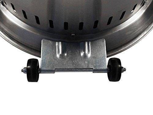 Traedgard® Heizstrahler Kompakt Midi Edel Modell 2018, Höhe ca. 142 cm, mit Rollenset und Schutzhülle, ca. 12 KW Heizleistung, 67426 - 7