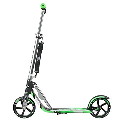 HUDORA Big Wheel Scooter 205, Tret-Roller klappbar - City-Scooter - 14708, grün/schwarz