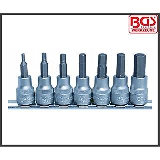 BGS - Werkzeug - Allen Key, Internal Hex 3-10 mm Bit Socket Set - 3/8