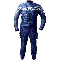 classyak Hombres de Ultron Capitán Real piel Alta calidad moto traje de América