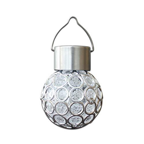 Isuper LED-Leuchtmittel, solarbetrieben, bunt, induktionsgeeignet, für den Garten, Beleuchtung mit Solarpaneelen für den Garten, zum Aufhängen von Baum (weißes Licht)