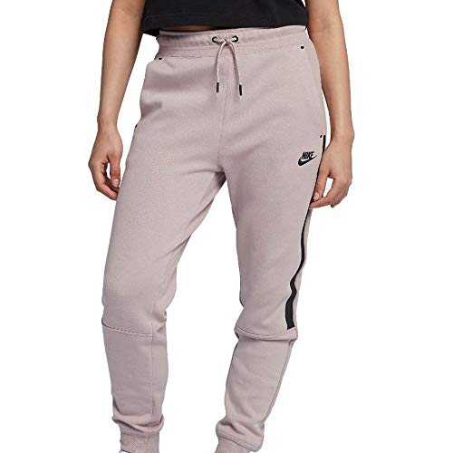 Nike Damen W NSW Tech Fleece Og Trainingshose, Partikel Rosa/Schwarz, L -