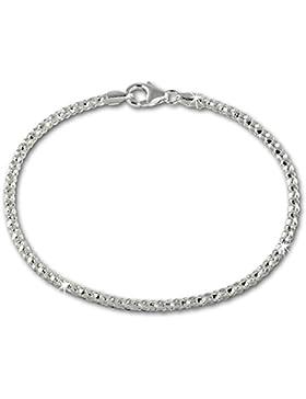SilberDream Armband aus 925er Sterling Silber - Damenarmband Himbeerkette - 18,5cm - SDA2178J