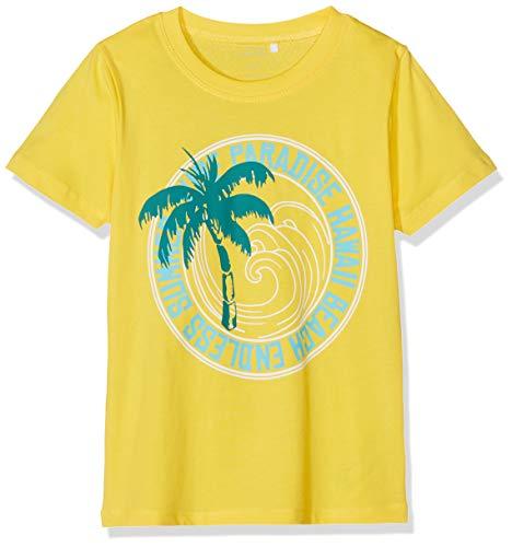NAME IT Jungen NKMVICTOR SS TOP J T-Shirt, Gelb (Primrose Yellow), 146 (Herstellergröße: 146-152) -