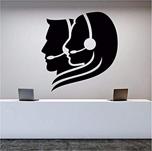 Wandtattoo Wall Decal Vinyl Removable Call Center Operator Wall Sticker Office Worker Stickers Room Decoration Art Mural Office Decor