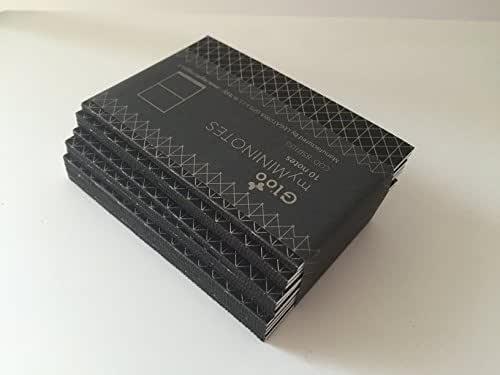 Idea regalo: Kit 10 blocchetti - dorso in gloo NERO - MY MININOTES