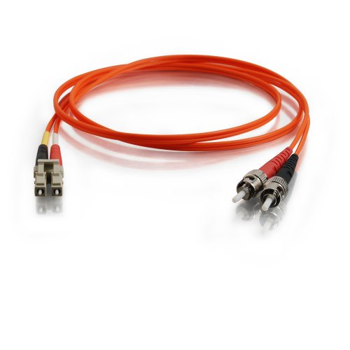 Cables to Go 85078 LC/ST Duplex 62,5/125 Multi-Mode Glasfaser Patch Kabel (15m) orange (15 Meter Glasfaser Patch-kabel)