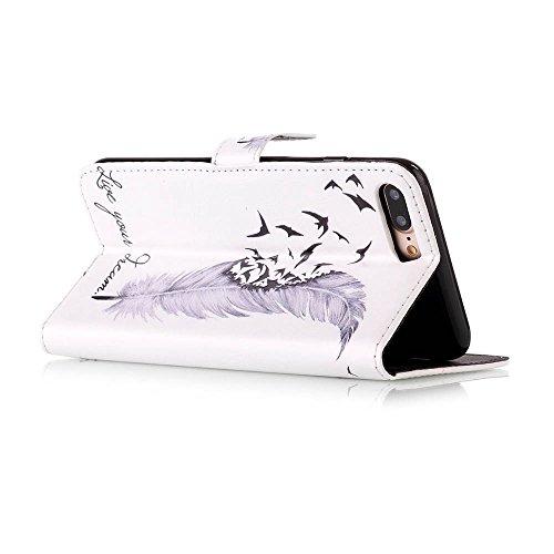 Iphone 7 Hülle, Linvei leder Hülle für Iphone 7 Flip Case ,Magnetic closure Apple 7 hülle, Schutz vor Dreck für Iphone 7 Taschen Schale Color 3