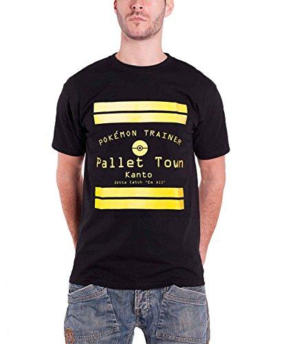 Pokemon Pallet Town kanto nouveau officiel Homme Noir T Shirt