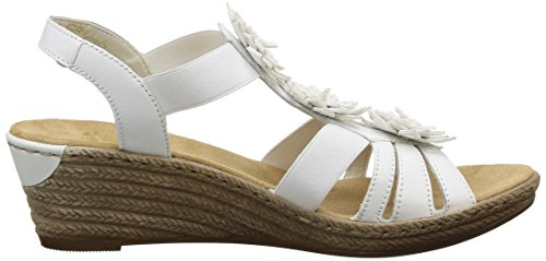 Rieker62461 - Sandali Donna Bianco (Weiss/bianco)