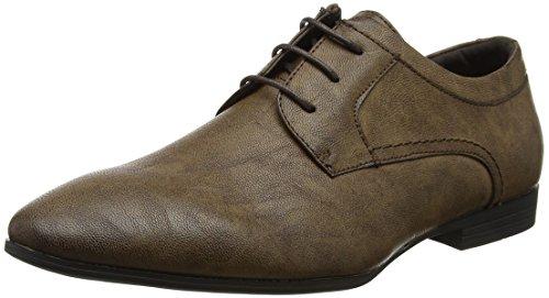 New Look Men's Tuffnell Formal Gibson Derbys, Brown (Dark Brown), 8 UK 42 EU