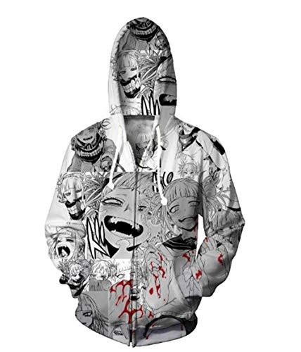 Kapuzenpullover Monster Weiblichen 3D-Druck Cosplay Pullover Hoodie Lässig Sweatshirt Gray L