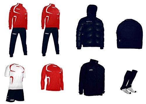 LEGEA Tornado Sportswear Set himmelblau - rot / blau