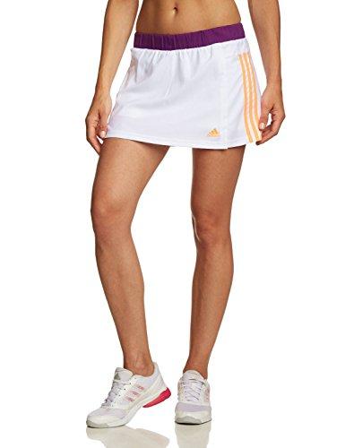 adidas Damen Tennisrock W Response Skort Rock mit Innentight und Balltaschen (White/Glow Purple S14, M) (Adidas Rock Damen)