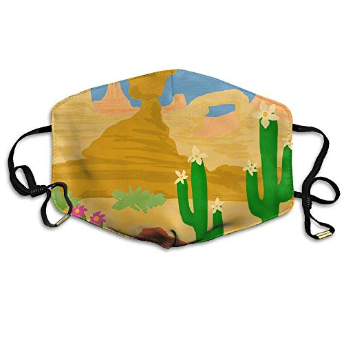 Daawqee Staubschutzmasken, Desert Cactus Printed Mask Neutral Mask Men Women Polyester Dust-Proof...