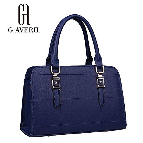 (G-AVERIL) Borse a Spalla e tracolla eleganza elegante Moda Donna Blu scuro
