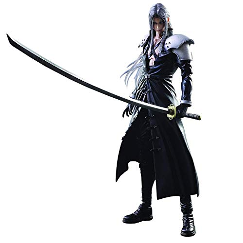 Siyushop Final Fantasy Advent Children: Sephiroth Action Figure Play Kai - Sephiroth Action Figures - Equipped with Weapons, Wings and Replaceable Hands - High 27CM